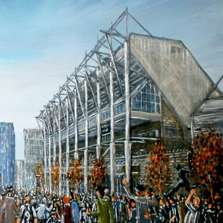 European St James' Park and the Strawberry, Match Day, 20th Century For Sale