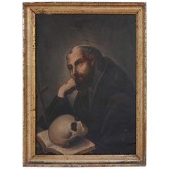 St. Jerome Religious Painting, circa 19th Century
