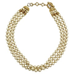 St. John 3 Strand Pearl Necklace