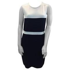St. John Black and White Knit Dress