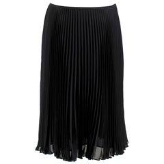 St. John Black Pleated Midi Skirt size 6