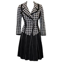 St. John Black & White Skirt Suit