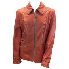 St. John Coral Leather Jacket