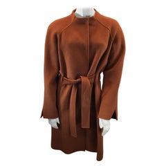 St. John Orange Wool Coat