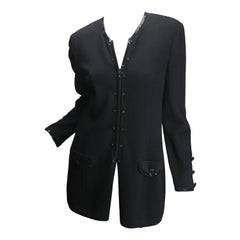 St John Women's Size 8 Black Knit Cardigan