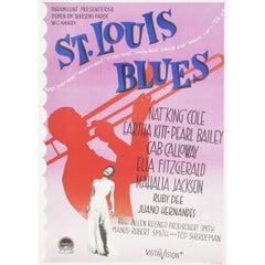St. Louis Blues 1958 Swedish B1 Film Poster