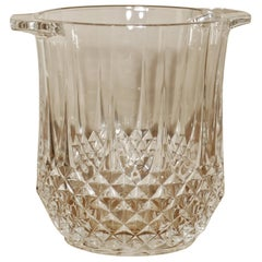 St Louis Crystal Ice Bucket, Handcut French Crystal Wine Cooler