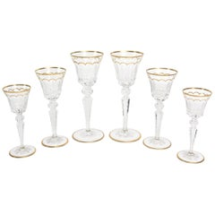 "St. Louis French Crystal Tu Y Yo ""Excellence"" Stemware Set of 6"