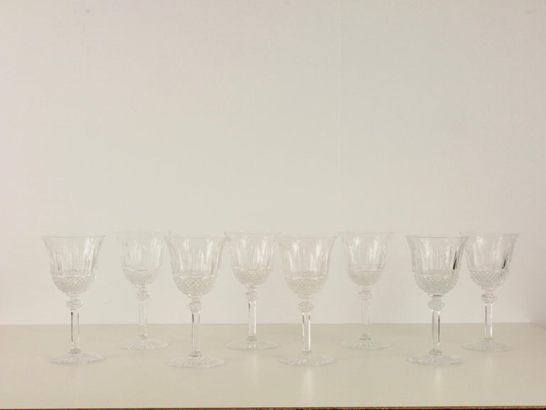 St. Louis French Extensive Set of 56 Vintage Crystal Drinking Glasses For Sale 4