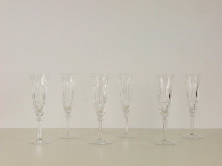 St. Louis French Extensive Set of 56 Vintage Crystal Drinking Glasses For Sale 5