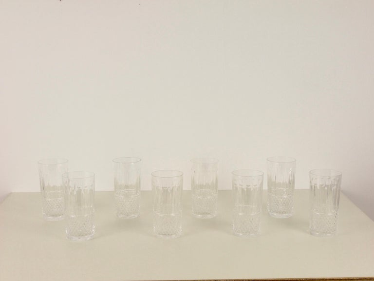 St. Louis French Extensive Set of 56 Vintage Crystal Drinking Glasses For Sale 6