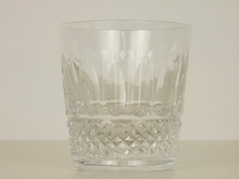 Baroque St. Louis French Extensive Set of 56 Vintage Crystal Drinking Glasses For Sale