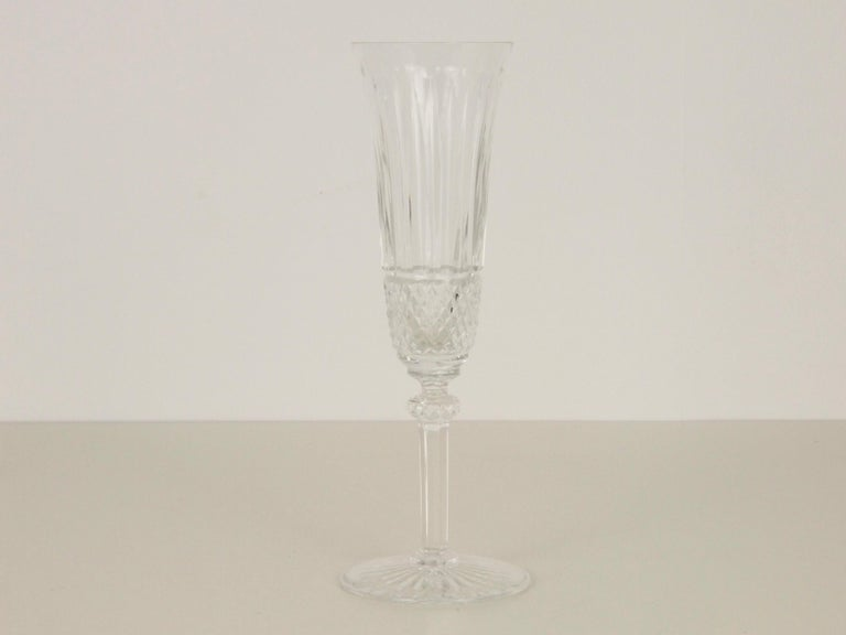 Hand-Carved St. Louis French Extensive Set of 56 Vintage Crystal Drinking Glasses For Sale