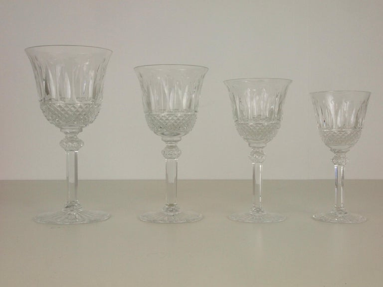St. Louis French Extensive Set of 56 Vintage Crystal Drinking Glasses For Sale 1
