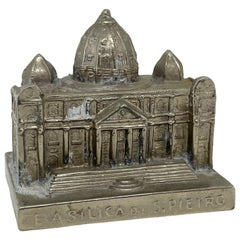 St. Peter Cathedral Church Souvenir Building Vintage, Italy, Rome, 1960s