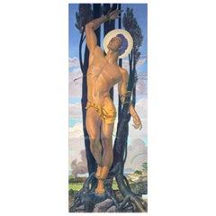 """St. Sebastian,"" Masterpiece Oil on Canvas by Vallenilla, Venezuelan Master"