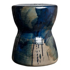 ST11 Glazed Stoneware Stool by Pascale Girardin