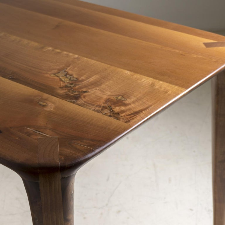 Italian S_Table Solid Wood Dining Table For Sale