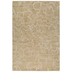 Staccato Hand-Knotted 6x4 Rug in Wool and Silk by Kelly Wearstler