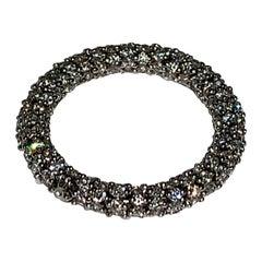 Stack-Able Roll on 2.05 Carat White Diamond 18 Karat White Gold Ring