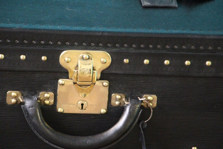 French Stack of Black Louis Vuitton Alzer Suitcases, Louis Vuitton Trunks Louis Vuitton For Sale