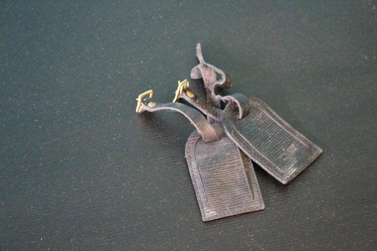 Brass Stack of Black Louis Vuitton Alzer Suitcases, Louis Vuitton Trunks Louis Vuitton For Sale