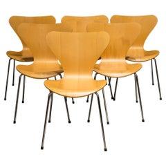"Stackable Arne Jacobsen for Fritz Hansen ""Series 7"" Chairs, circa 1991"