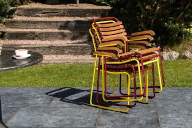 Stackable Chair with Arms, 20th Century For Sale 10