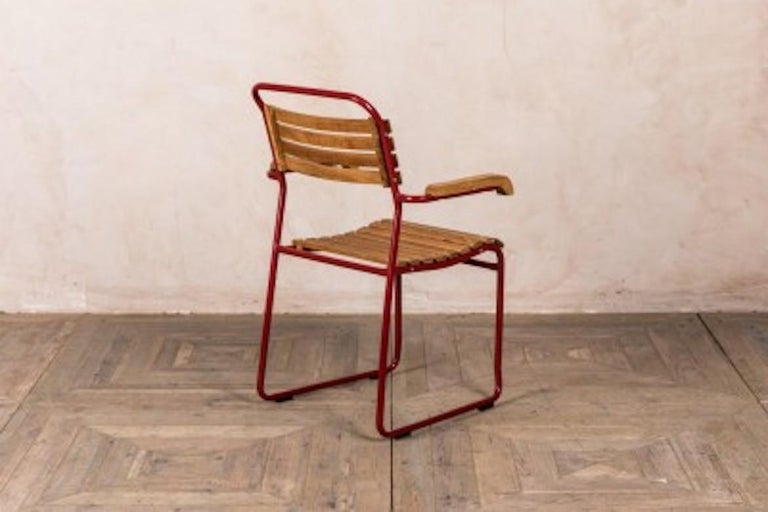 European Stackable Chair with Arms, 20th Century For Sale