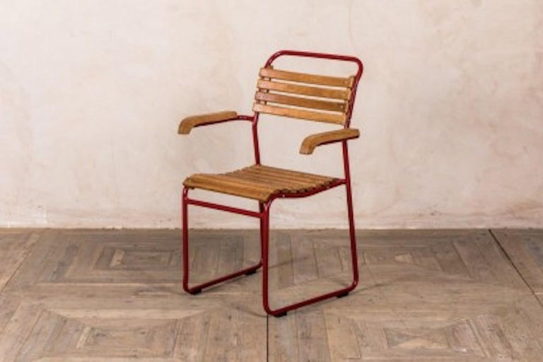 Stackable Chair with Arms, 20th Century In Excellent Condition For Sale In London, GB
