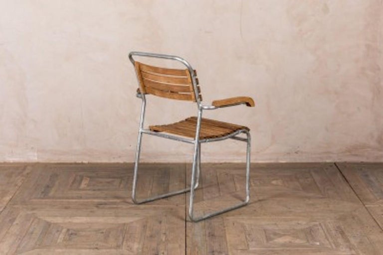 Stackable Chair with Arms, 20th Century For Sale 1