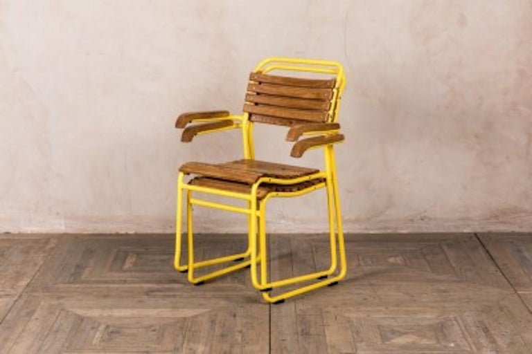 Stackable Chair with Arms, 20th Century For Sale 2