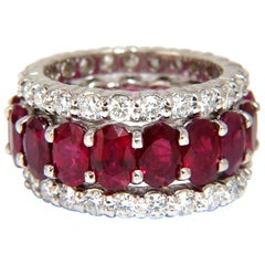 Stackable Ruby Diamonds eternity Ring 14kt Natural Vivid Reds Stacking 13.54ct