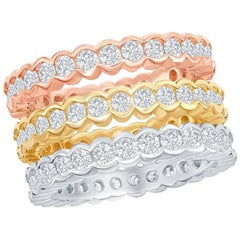 Stackable Tricolor Bezel Rings