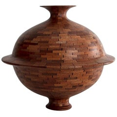 STACKED Mahogany Rimmed Vessel by Richard Haining, Available Now