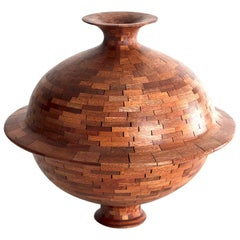 """Stacked Mahogany Rimmed Vessel"", by Richard Haining"