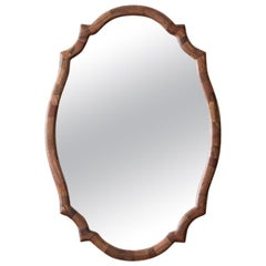 STACKED Scalloped Mirror by Richard Haining, Shown in Walnut, Customizable