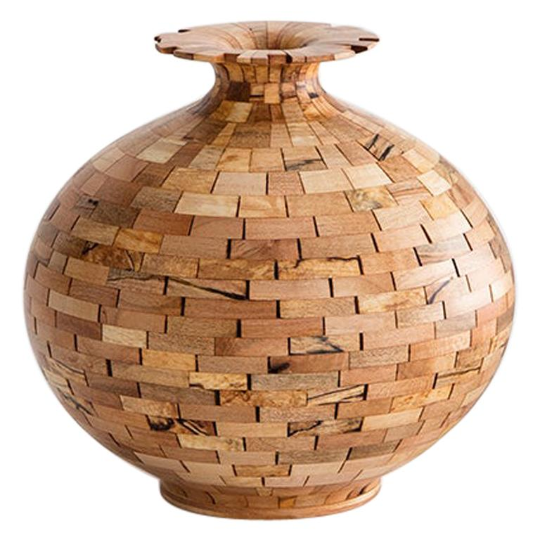 STACKED Spalted Maple Vase, by Richard Haining, Available Now