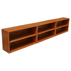 Stacking Adjustable Danish Modern Teak Bookcase