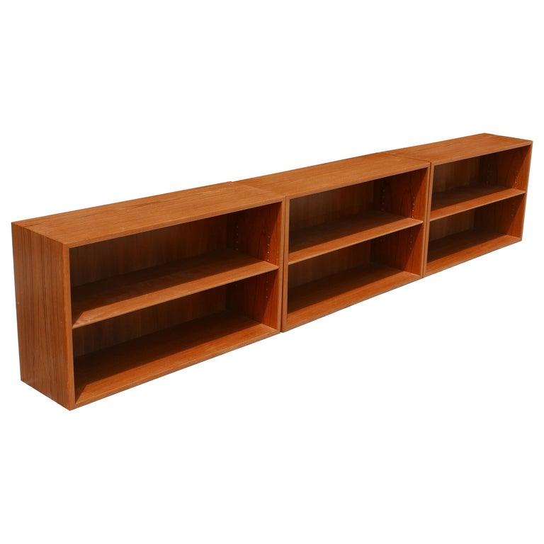 Stacking Adjustable Danish Modern Teak Bookcase For Sale