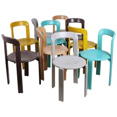 Stacking Chairs by Bruno Rey for Dietiker, Switzerland, 1970s