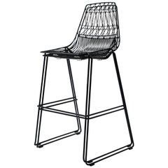 Stacking Lucy Bar Stool in Black by Bend Goods