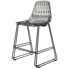 Stacking Lucy Counter Stool in Black by Bend Goods