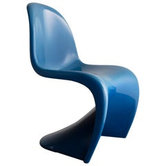 Stacking Side Chair in Blue Plastic by Herman Miller, 1959-1960