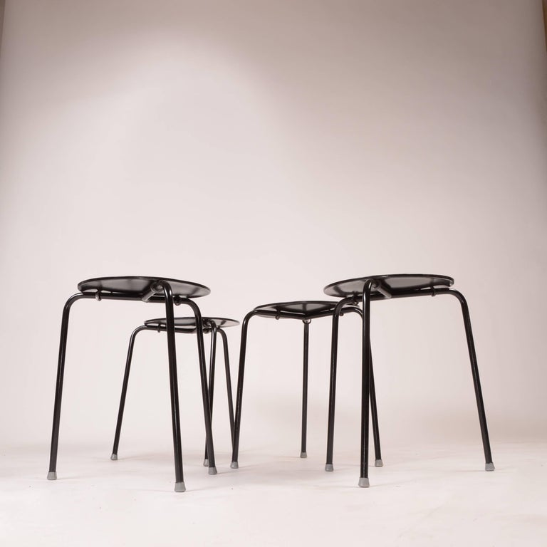 Scandinavian Modern Stacking Stools by Arne Jacobson For Sale