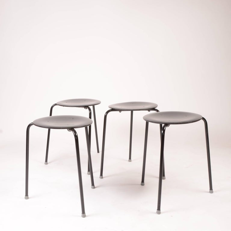 Danish Stacking Stools by Arne Jacobson For Sale