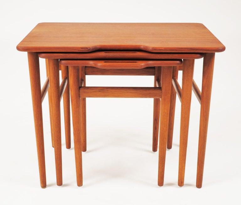 Danish Stacking Tables in Massive Teak by Kurt Östervig, Produced by Jason, Denmark