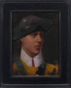 Swiss Guard at the Vatican Gate, Oil, Portrait Painting, Figurative Art,American