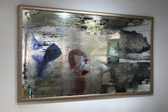 'Cool Like Lenny', Large Contemporary Mixed-Media Painting on Mirror