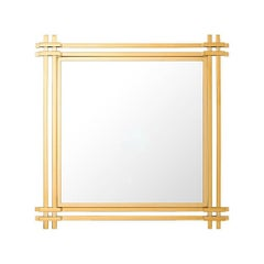 Stadium Mirror in Gold Finish